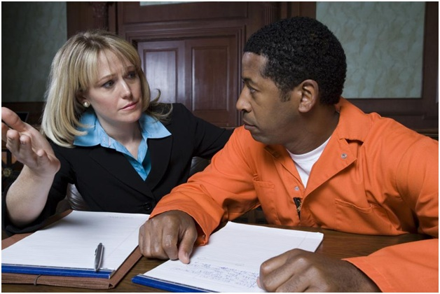 lawyer and defendant