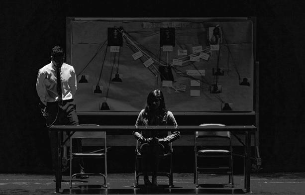 Women in a custodial interrogation with an officer