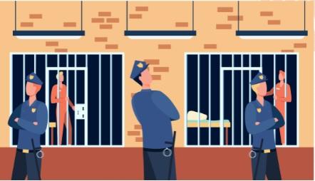 prison and guard