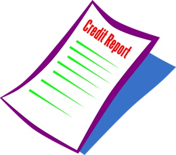 A credit report document