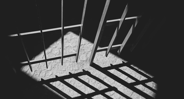 Shadow of prison bars