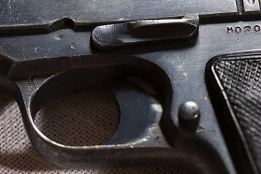 Closeup of a pistol