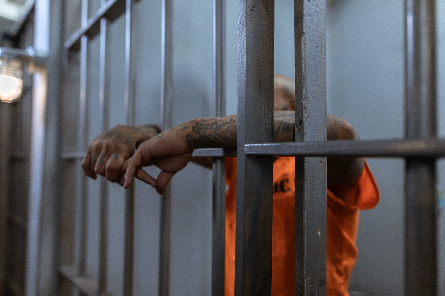 Man in jail waiting to get out